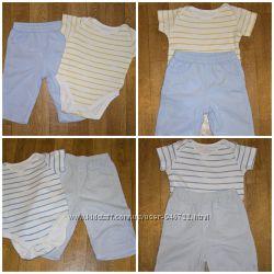 Летний комплект для мальчика 6-9 месяцев