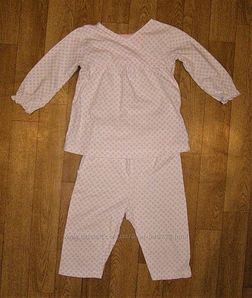 Пижама Mothercare для девочки 9-12 мес