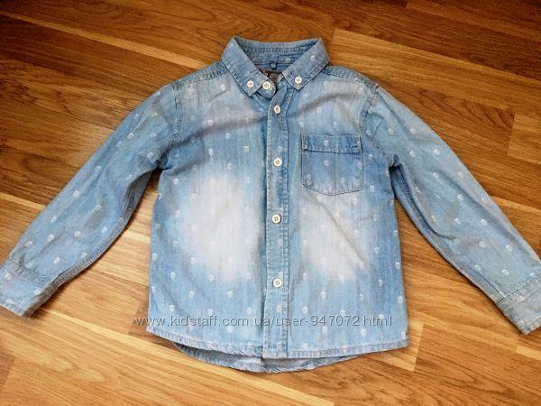 Джинсовая рубашка TU на 4-5 лет в отличном состоянии