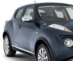 Хромові накладки на дзеркала Nissan Juke