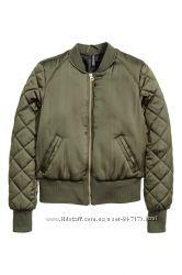 Стеганая куртка бомбер H&M Newlook Forever21 В наличии S M L XL
