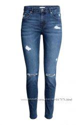 Рваные джинсы скинни Н&М , в наличии 36 38