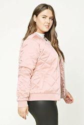 Пудровая стеганная куртка Forever21