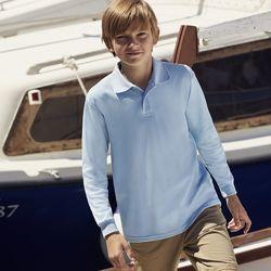 Детские футболки поло с длинным рукавом 201, цвета в наличии