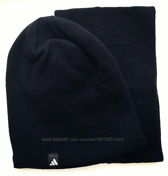 Комплект шапка и горловик черного цвета