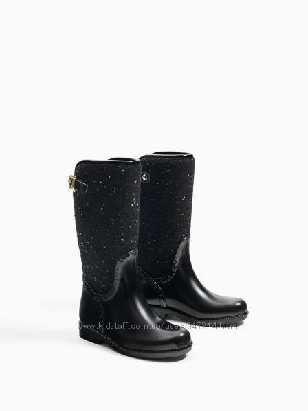 Нові стильні резинові чоботи Zara 36-37 резиновые сапоги