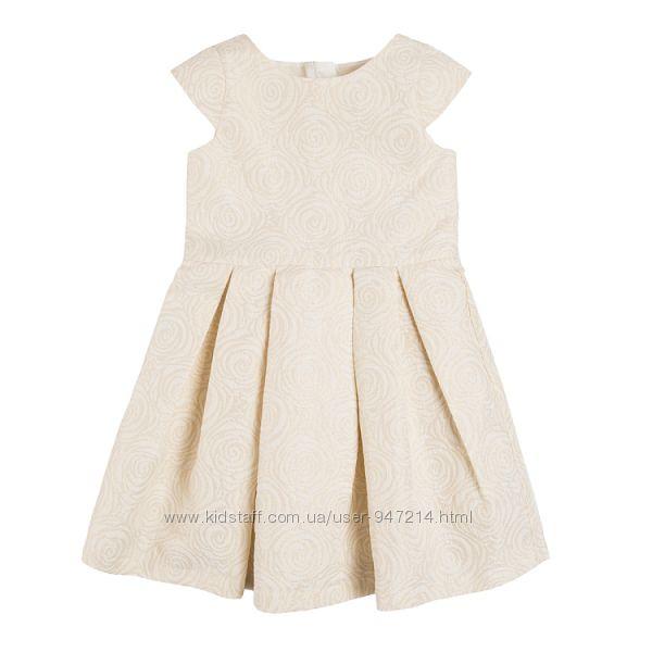 Нова святкова жакардова сукня Cool Club р. 116 золото жакард