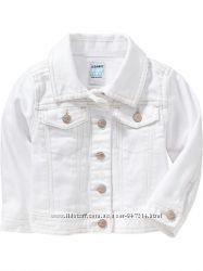 Нова біла джинсова куртка Old navy р. 5T