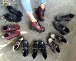 Демисезонные ботинки, натур кожа
