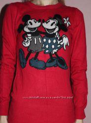 Снижена цена итальянский яркий красный свитер   Silvian Heach