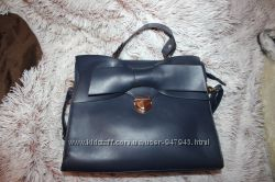 синяя сумка с бантом