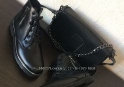 Ботинки 122011 натуральная кожа черные р. 36, 37, 38, 39, 40 Осень