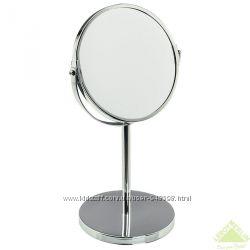 Зеркало настольное с увеличением на высокой ножке