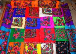 Бабушкин платок  Платок акриловый  Платочная ткань 75см х 75см