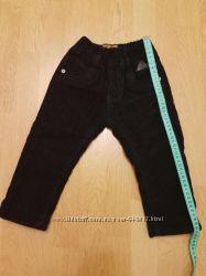 Теплые вельветовые брюки на флисе