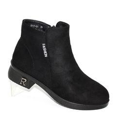 Женские ботинки на низком каблуке деми