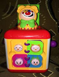 Детский Кубик развивающий с сюрпризом, звуковые эффекты Huiletoys