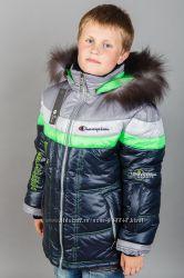 Теплая качественная зимняя куртка-пальто, мальчику и девочке