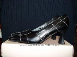 Новые женские черные туфли Blossem из искусственной кожи, 35 р.