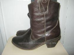 Женские сапоги кожаные, осень