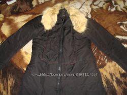 Стильная куртка на пухусинтапон. Натуральный ворот
