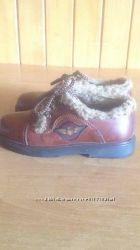 Кожаные туфли с мехом для мальчика Nuvola Rossa Италия, р. 28