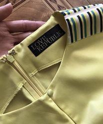 Желтое платье love republic