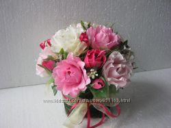 Подарок Букет из конфет Розы в розовом, композиции, конфетный букет