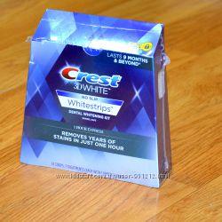 отбеливающие полоски для зубов Crest 3D White 1-Hour Express, оригинальные