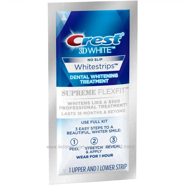 полоски отбеливающие Crest 3D White Whitestrips Supreme FlexFit США, ориг.