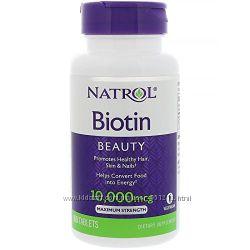 Биотин Maximum Strength Natrol Biotin США 10000мкг 100шт. для волос, ногтей