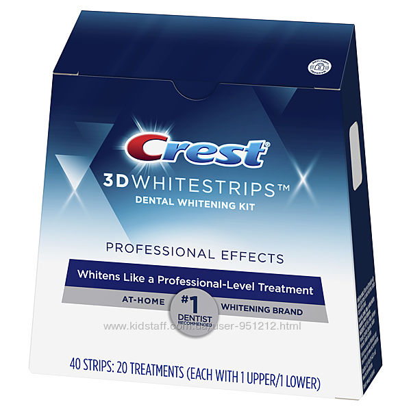 полоски Crest 3D White Whitestrips LUXE Professional Effects, США, поштучно