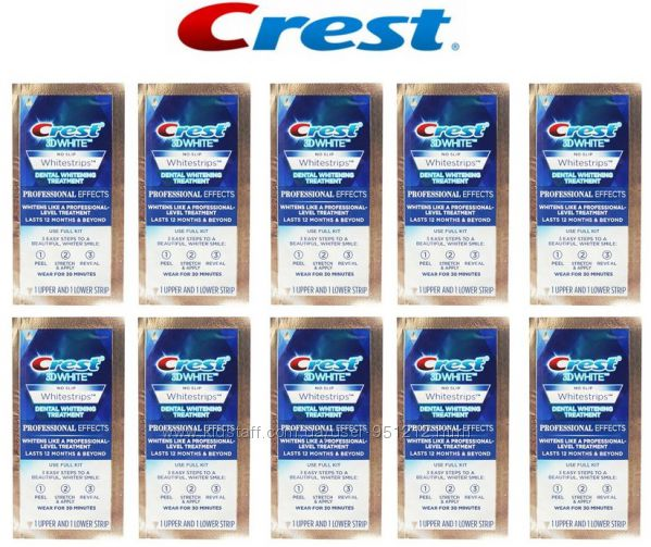 отбеливающие полоски Crest 3D White Whitestrips Professional Effects - 20шт