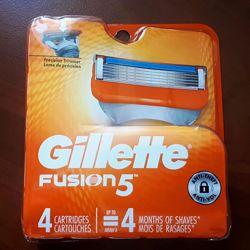 Gillette Fusion США, оригинальные картриджи, кассеты для бритья, упаковка
