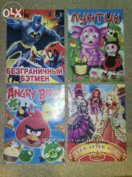 Раскраски, раскраски с наклейками детские в ассортименте