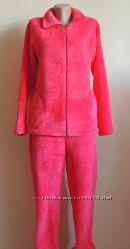 Женская теплая махрвая пижама на зиму M L XL XXL 3XL