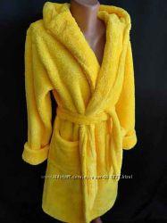 Женский теплый махровый халат
