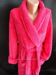 Женский махровый халат на зиму