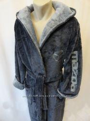 Мужской длинный махровый халат XL XXL 3XL