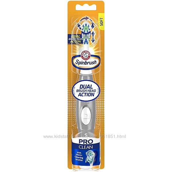 Электрическая Зубная щетка Arm & Hammer Spin brush Pro Clean Dual Action