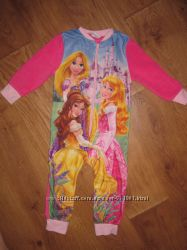 Флисовый человечекпижама с принцессами Disney 2-3 года