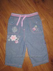 Летние джинсы-капри M&Co Baby для девчушки 9-12 мес.