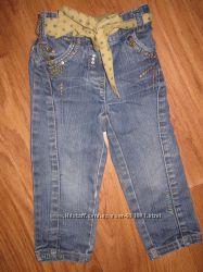 Крутые джинсы Next 12-18 мес с утяжкой на поясе