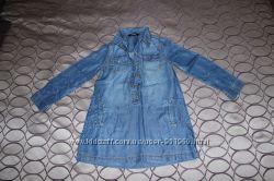 Платье-рубашка фирмы George, 5-6 лет, 110-116 см