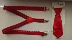 комплект галстук и подтяжки