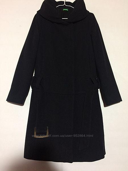 Длинное шерстяное пальто Benetton
