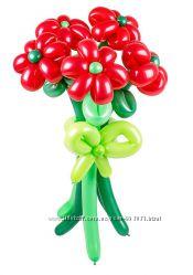 Оригинальные Цветы из шаров, Красивые Букеты из воздушных шариков в Киеве