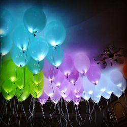 Светящиеся шары, Светодиодные шарики с гелием со светодиодами в Киеве