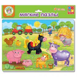 Мягкие пазлы для малышей А4 Vladi Toys. Теремок. Репка. Ферма. Зоопарк