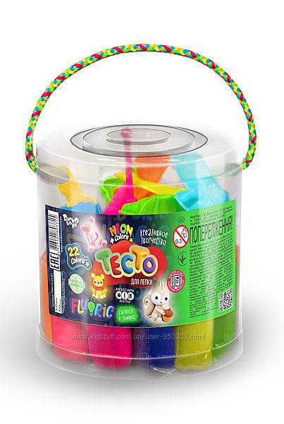 Тесто для лепки Danko Toys Fluoric 22 цвета
